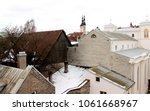 view over the rooftops  old... | Shutterstock . vector #1061668967