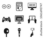 graphic information icons set.... | Shutterstock .eps vector #1061690747