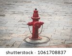 old hydrant on street   vintage ... | Shutterstock . vector #1061708837