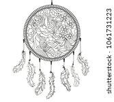 dreamcatcher. zentangle.... | Shutterstock .eps vector #1061731223