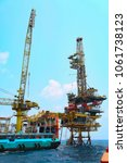 offshore construction platform... | Shutterstock . vector #1061738123