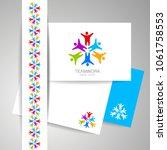 logotype for teamwork. business ... | Shutterstock .eps vector #1061758553