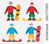 snowboarding concept  a set of... | Shutterstock .eps vector #1061775323