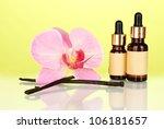 vanilla pods with essential oil ... | Shutterstock . vector #106181657