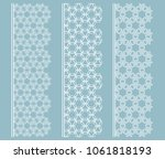 vector set of line borders with ... | Shutterstock .eps vector #1061818193