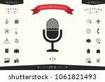 vintage microphone icon | Shutterstock .eps vector #1061821493