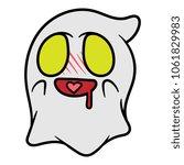 cartoon ghost in love emoticon | Shutterstock .eps vector #1061829983