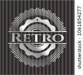 retro silver emblem or badge | Shutterstock .eps vector #1061854277