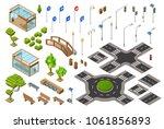 city traffic street isometric... | Shutterstock .eps vector #1061856893