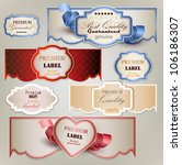 set of holiday banners and... | Shutterstock .eps vector #106186307