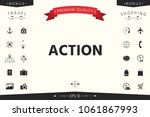 action button symbol | Shutterstock .eps vector #1061867993