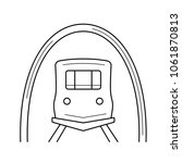 subway vector line icon... | Shutterstock .eps vector #1061870813