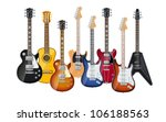 acoustic and electric guitars... | Shutterstock .eps vector #106188563