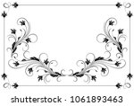 set vintage ornament and... | Shutterstock .eps vector #1061893463