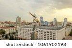 Small photo of Russia, Samara - September 14, 2017: Panoramic view of the square of glory. Monument of Glory, Government of Samara Region