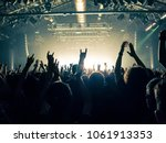 concert venue with lit stage... | Shutterstock . vector #1061913353