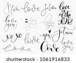minimalist set with creative...   Shutterstock .eps vector #1061916833
