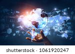 global communication and... | Shutterstock . vector #1061920247
