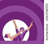 pilates poses illustration... | Shutterstock .eps vector #1061938553
