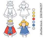 king and princess   page for...   Shutterstock .eps vector #1061946257