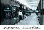 white and blue firewall... | Shutterstock . vector #1061950553
