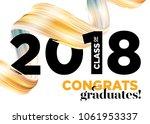 congratulations graduates class ... | Shutterstock .eps vector #1061953337