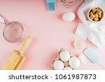 frame of food ingredients for... | Shutterstock . vector #1061987873