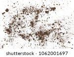 pile of soil  dirt isolated on... | Shutterstock . vector #1062001697