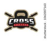 fitness sport logo  emblem. | Shutterstock .eps vector #1062007163