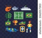 set of brazil national culture... | Shutterstock .eps vector #1062017303