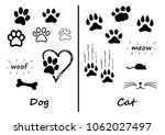Animals footprints foot feet footsteps dog hound cat puss pussy mouse woof meow heart love fun silhouette lucky walking paws canine mouse comic vector icon clipart sign run speedy fast cartoon funny