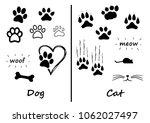 animals footprints foot feet... | Shutterstock .eps vector #1062027497