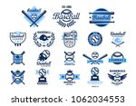 set of american baseball logo.... | Shutterstock .eps vector #1062034553