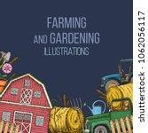 set of farming equipment icons. ... | Shutterstock .eps vector #1062056117