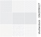 white and grey geometric... | Shutterstock .eps vector #1062058127
