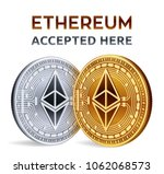 ethereum. accepted sign emblem. ... | Shutterstock .eps vector #1062068573