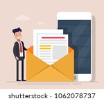 happy businessman or manager on ...   Shutterstock .eps vector #1062078737