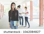 group of happy teen high school ...   Shutterstock . vector #1062084827