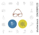 universal icons set with print  ...