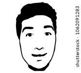 graffiti stencil face. young...   Shutterstock .eps vector #1062091283
