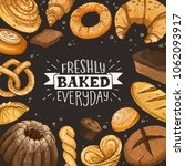 freshly baked everyday... | Shutterstock .eps vector #1062093917