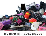 pile of used electronic and... | Shutterstock . vector #1062101393