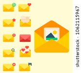 email envelope cover icons... | Shutterstock .eps vector #1062115967