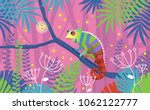 colorful pink illustration with ... | Shutterstock .eps vector #1062122777