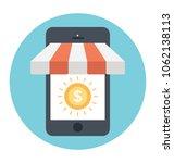 mobile store  online shopping... | Shutterstock .eps vector #1062138113