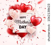 mothers day background with red ... | Shutterstock .eps vector #1062138623
