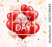 mothers day background with red ... | Shutterstock .eps vector #1062138683