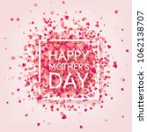 mothers day background with red ... | Shutterstock .eps vector #1062138707