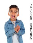 funny child with dark hair...   Shutterstock . vector #1062140117