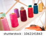 close up colorful threads at... | Shutterstock . vector #1062141863